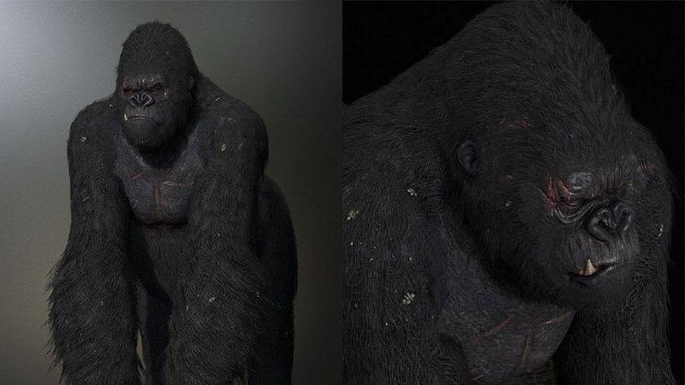 مدل سه بعدی کینگ کونگ King Kong