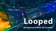 پروژه افترافکت صفحه نمایش لوپ Looped Background