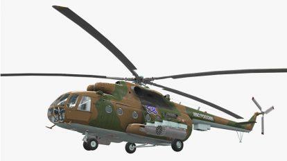 مدل سه بعدی هلیکوپتر جنگی Mi-8MT Helicopter