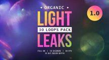 مجموعه فوتیج افکت نشتی نور Organic Light Leaks