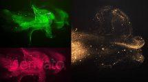 پروژه افترافکت نمایش لوگو با ذرات پارتیکلی Particle Sand Logo Reveal