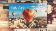 پروژه افترافکت اسلایدشو عکس Photo Diary