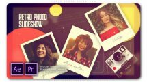پروژه پریمیر اسلایدشو رترو Retro Photo Slideshow