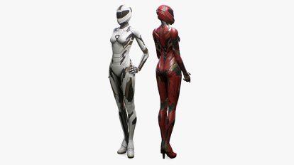 مدل سه بعدی کاراکتر زن Sci-Fi Female Suit