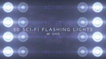 مجموعه فوتیج افکت فلش نور Sci-Fi Flashing Lights