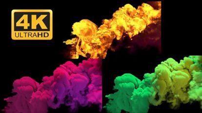 مجموعه ویدیوی موشن گرافیک دود رنگی Smoke Pack