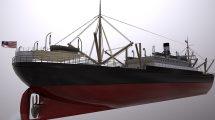 مدل سه بعدی کشتی SS Ancon Vehicle