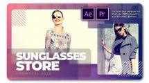 پروژه پریمیر تیزر تبلیغاتی عینک آفتابی Sunglasses Store Showreel