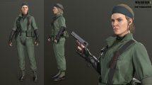مدل سه بعدی کاراکتر زن نظامی The Boss from Metal Gear Solid 3