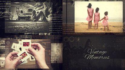 پروژه افترافکت اسلایدشو وینتیج Vintage Memories