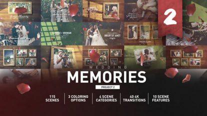 پروژه افترافکت اسلایدشو عروسی Wedding Memories Slideshow