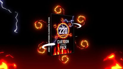 پروژه افترافکت اجزای موشن گرافیک کارتونی Cartoon Elements Pack