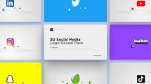 پروژه افترافکت نمایش لوگو شبکه اجتماعی Social Media Logo Reveal Pack