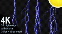 مجموعه ویدیوی موشن گرافیک رعد و برق Lightning Pack