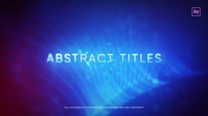 پروژه افترافکت نمایش عناوین انتزاعی Abstract Titles