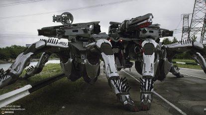 مجموعه مدل سه بعدی اجزای رباتیک Black Widow Full Pack