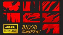 مجموعه فوتیج ترانزیشن کارتونی خون Blood Transitions