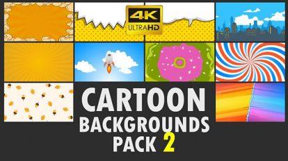 مجموعه فوتیج زمینه کارتونی Cartoon Backgrounds Pack 2