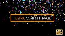 مجموعه فوتیج کاغذ رنگی جشن Confetti Ultra Pack