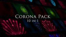 مجموعه فوتیج ویروس کرونا Corona Virus Pack