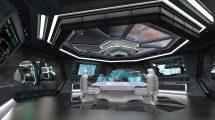 مدل سه بعدی مرکز فرماندهی فضاپیما Spaceship Command Center