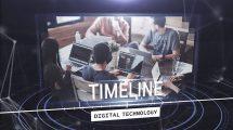 پروژه افترافکت تایم لاین تکنولوژی دیجیتال Digital Technology Timeline
