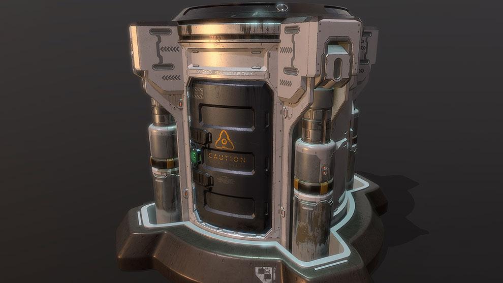 مدل سه بعدی آسانسور صنعتی Doom Props Elevator