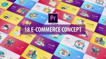 پروژه پریمیر مجموعه انیمیشن تجارت الکترونیکی E-Commerce Concept Flat Animation