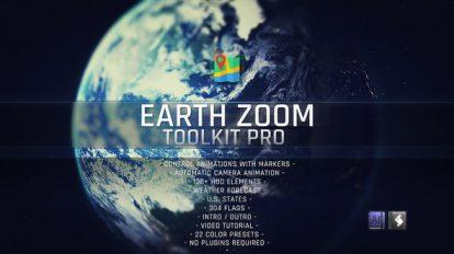 پروژه افترافکت انیمیشن بزرگنمایی زمین Earth Zoom Toolkit Pro
