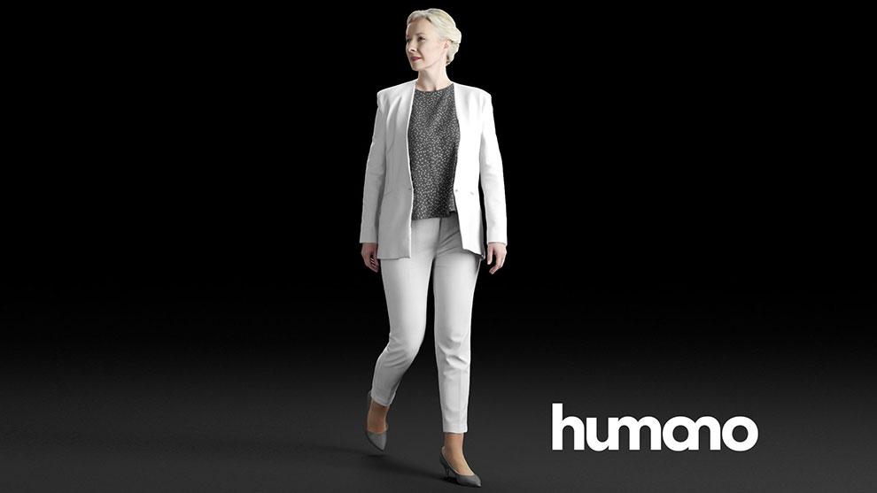 مدل سه بعدی زن در حال راه رفتن Elegant Woman Walking