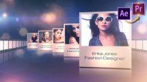 پروژه پریمیر نمایش نمونه کار فشن Fashion Designers Portfolio