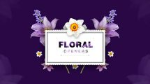 مجموعه فوتیج گل برای نمایش عناوین Floral Opening Footages