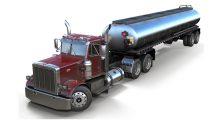 مدل سه بعدی تریلی سوخت Peterbilt 359 Fuel Trailer