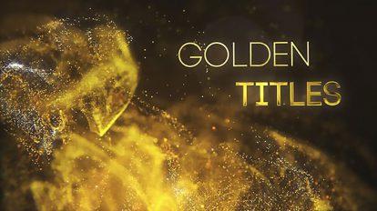 پروژه افترافکت نمایش عناوین طلایی Golden Particle Titles