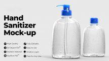 مدل سه بعدی محتوی محلول ضدعفونی Hand Sanitizer Mockups