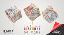 مجموعه فوتیج بالون جشن تولد Happy Birthday Celebration