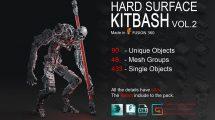 مجموعه مدل سه بعدی سطوح سخت Hard Surface Kitbash Vol.2