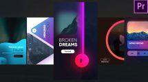پروژه پریمیر استوری اینستاگرام موزیک Instagram Music Stories