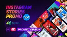 پروژه افترافکت مجموعه استوری اینستاگرام تبلیغاتی Instagram Stories Promo