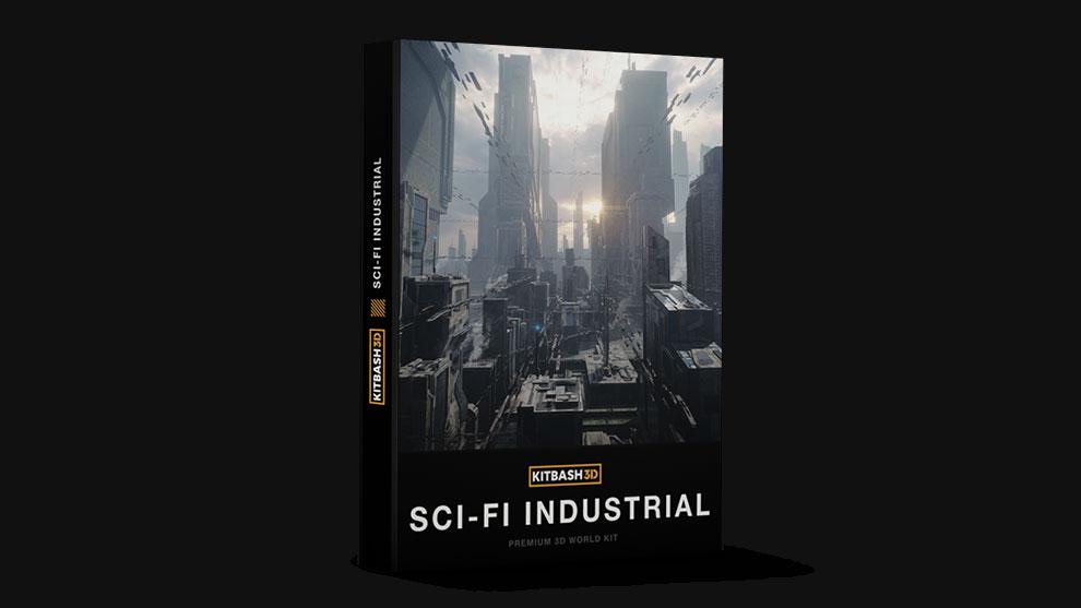 مجموعه مدل سه بعدی ساختمان صنعتی Kitbash3D Sci-Fi Industrial