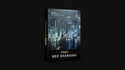 مجموعه مدل سه بعدی اجزای شهری شانگهای Kitbash3D Neo Shanghai