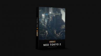 مجموعه مدل سه بعدی ساختمان های توکیو Kitbash3D Neo Tokyo 2
