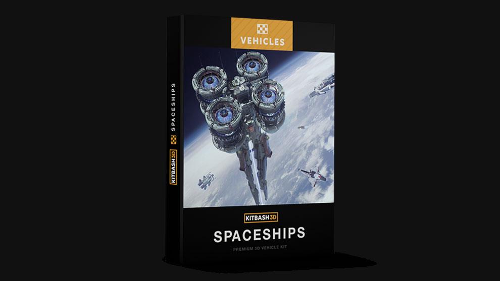 مجموعه مدل سه بعدی فضاپیما Kitbash3D Spaceships