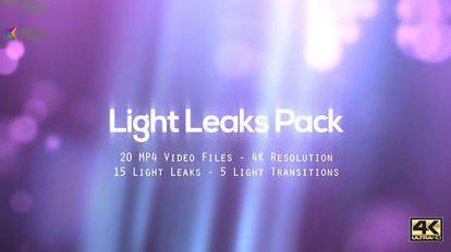 مجموعه فوتیج افکت نور Light Leaks Pack
