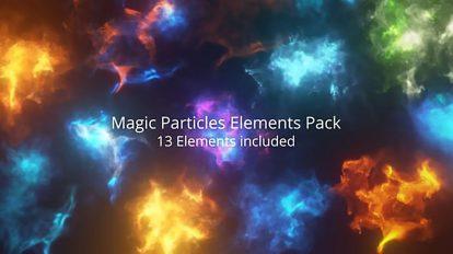 مجموعه فوتیج افکت های پارتیکلی جادویی Magic Particle Elements