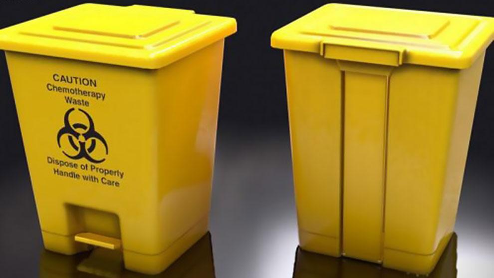 مدل سه بعدی سطل آشغال پلاستیکی پزشکی Medical Trash Plastic Box