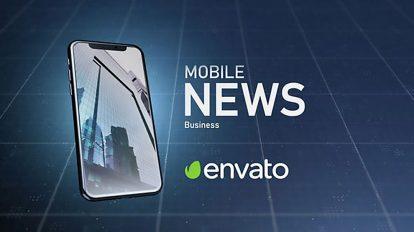 پروژه افترافکت نمایش خبر روی موبایل Mobile News