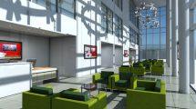 مدل سه بعدی سالن پذیرش اداری Office Entrance Reception