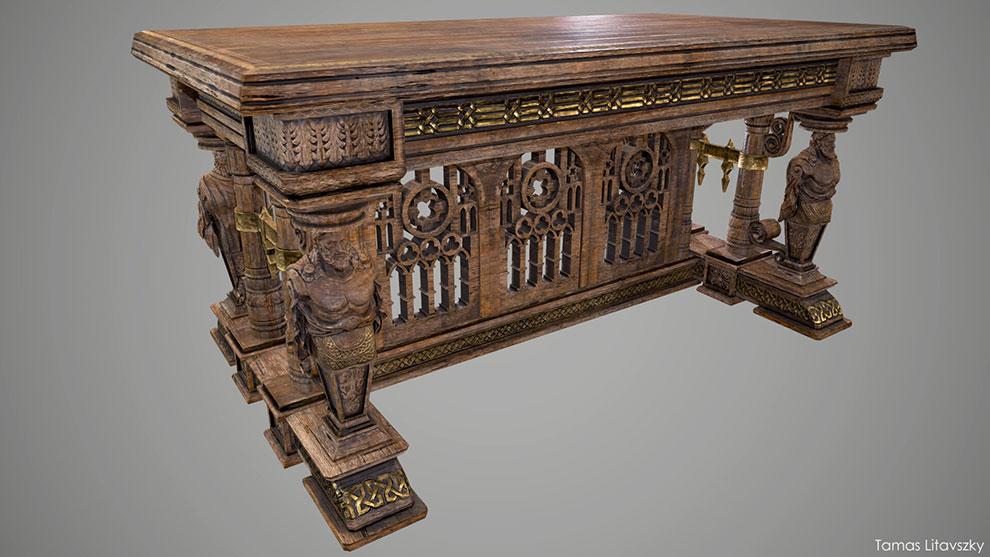 مدل سه بعدی میز قدیمی Old Table