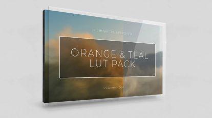 مجموعه پریست رنگ با تم نارنجی Orange and Teal Lut Pack